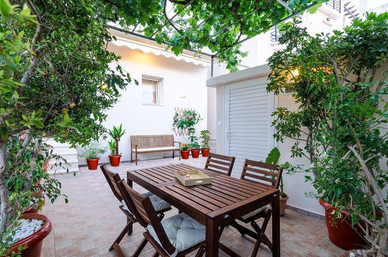 Gli ospiti possono rilassarsi nel nostro patio
