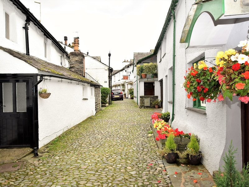 Hidden away down this quirky cobbled lane