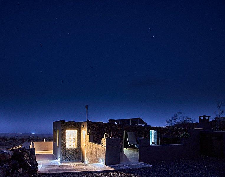 Ansichten von La Casita del Volcán in der Nacht