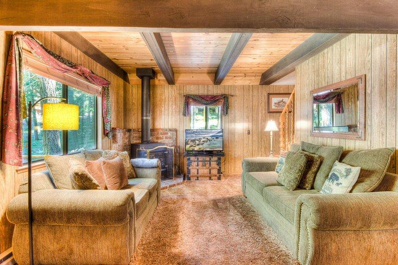 Divano, mobili, soggiorno, camera, interni