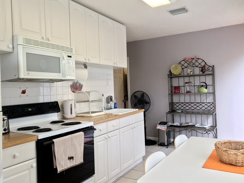 fully equipped meticulously cleaned kitchen with all the amenities of home