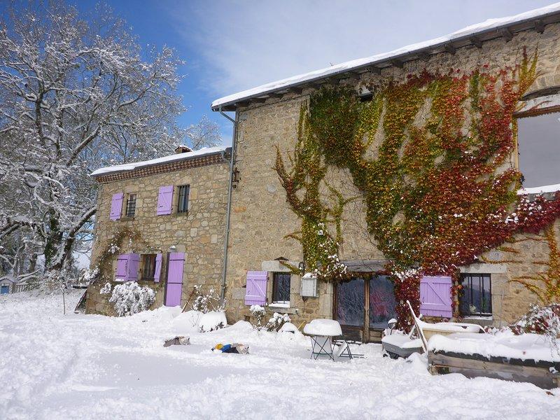 The facade in winter