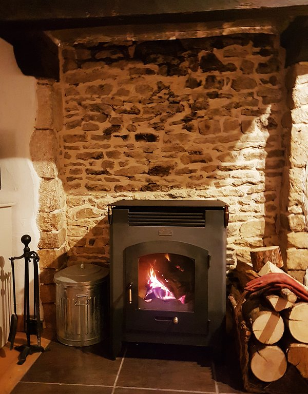 A cosy wood burner for winter breaks