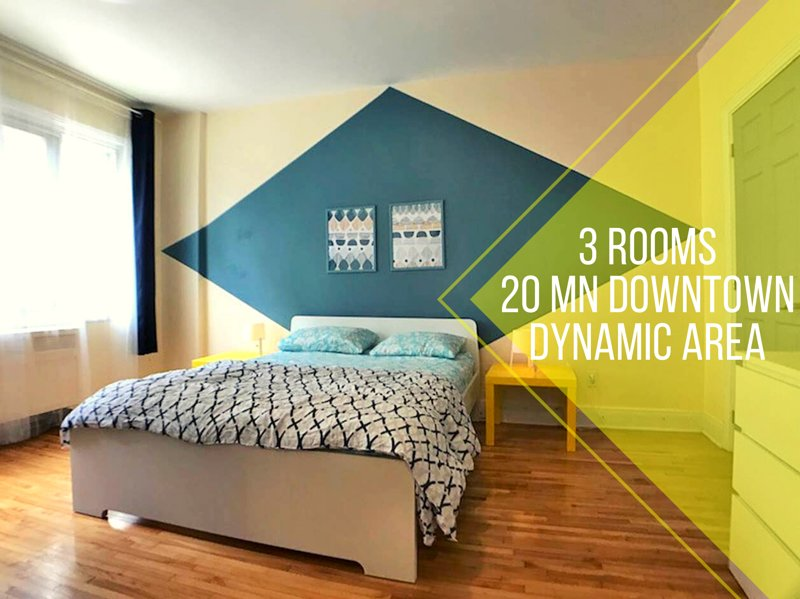 3 closed Bedrooms, 20 min downtown, Udem HEC Poly, holiday rental in Mont-Royal