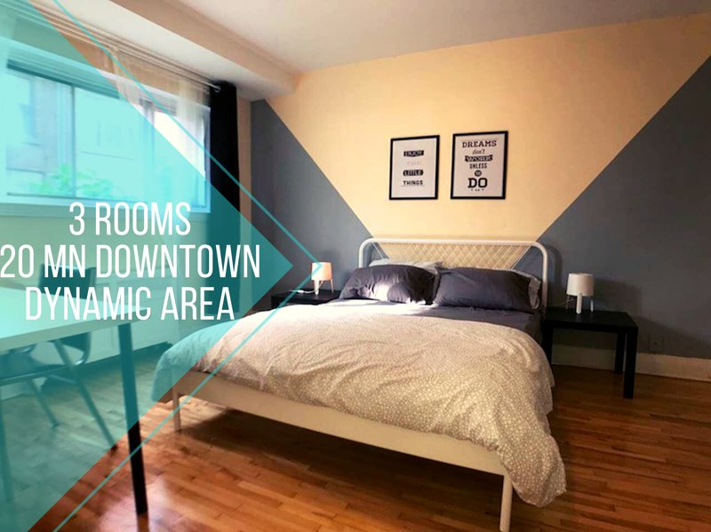 3 rooms, HEC, Poly, Udem, 20 min downtown, holiday rental in Mont-Royal
