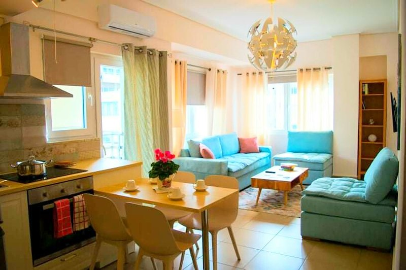 Our lovely apartment is made to host you and your family as more pleasant we can.