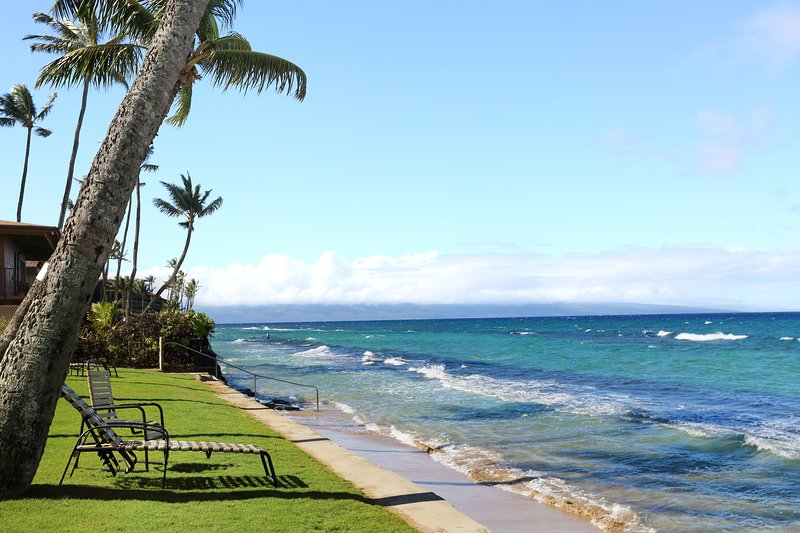 *New* Ocean front resort w/updated kitchen, pool, spa, and peaceful garden views, holiday rental in Lahaina