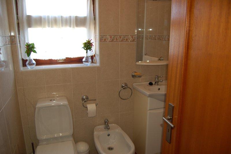 Upper level-Bathroom (basin; toilet; cubicle ; bidet; sower; hairdryer)