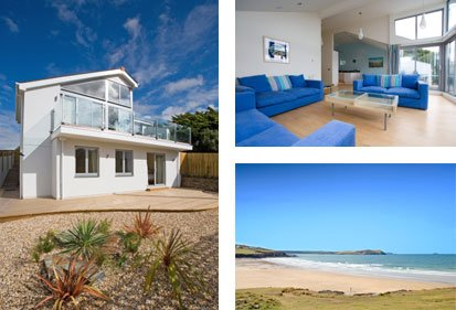 Contemporary House in New Polzeath Slps 8-9 in 4-5 Bedrooms, Sundeck & Sea View, location de vacances à Trebetherick