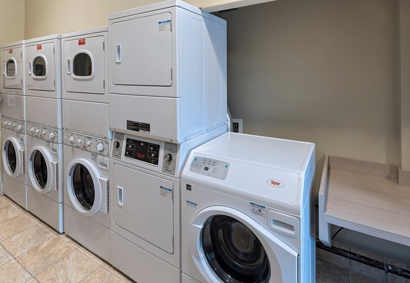 Do your laundry with ease using the on-site washer and dryer.