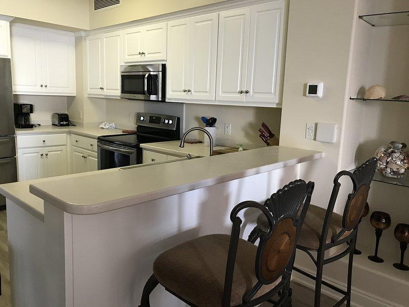 Camera, interni, sedia, mobili, isola cucina