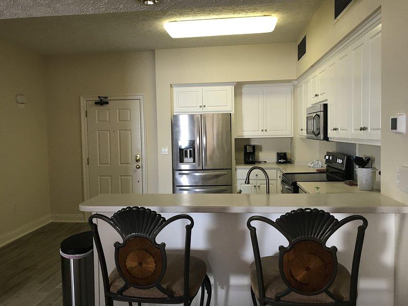 Camera, interni, cucina, isola cucina, pavimenti