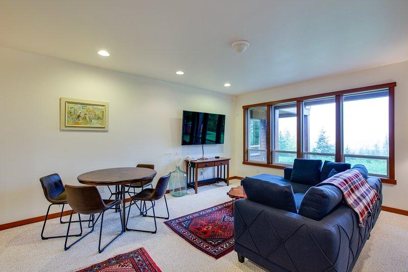 Silla, muebles, pantalla, sala de estar, interior