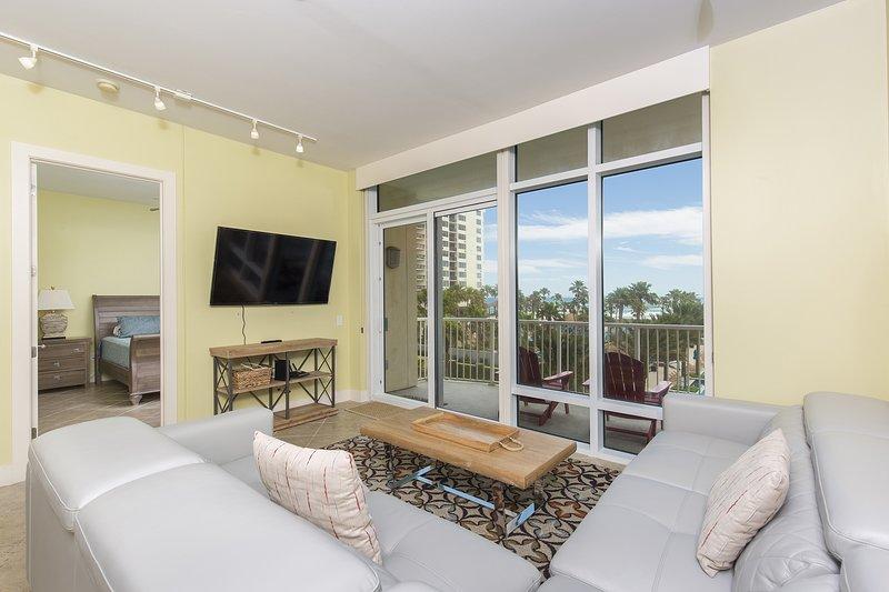 Sala de estar, quarto, tela, móveis