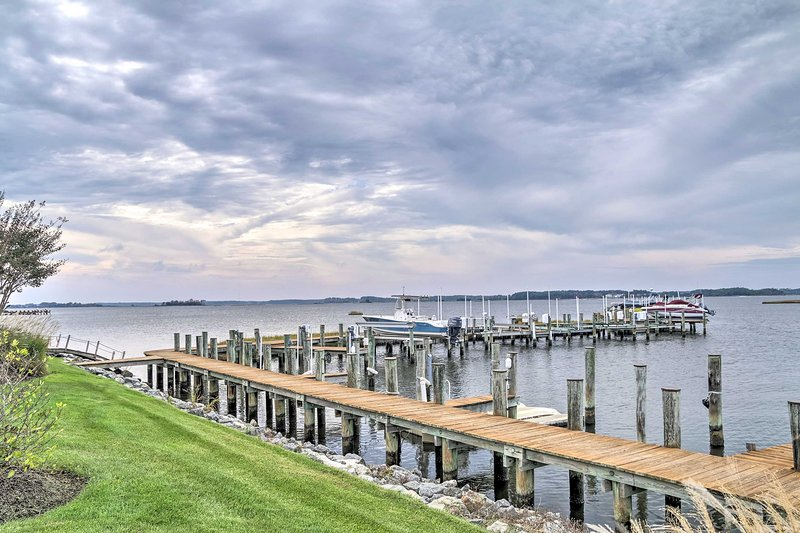 Enjoy access to a shared dock and west-facing views from 2 decks.