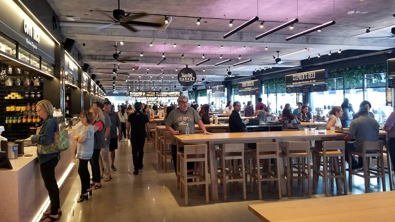 THE TIME OUT FOOD HALL IS 1 STREET AWAY