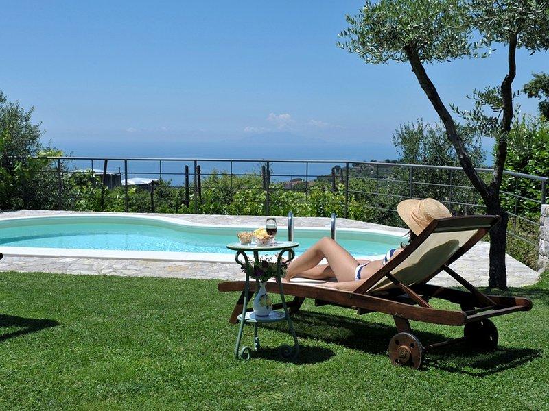 Sant'Agata sui Due Golfi Villa Sleeps 3 with Pool Air Con and WiFi - 5819414, aluguéis de temporada em Metrano