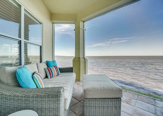Soak in the bayfront views at 'Bayside Beauty' ~ fish from your bay-backyard, holiday rental in Destin