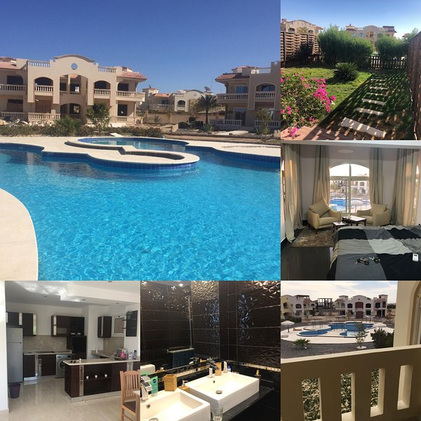 Elgouna nearby lovely modern ground floor in a villa within a close compound, Ferienwohnung in El Gouna