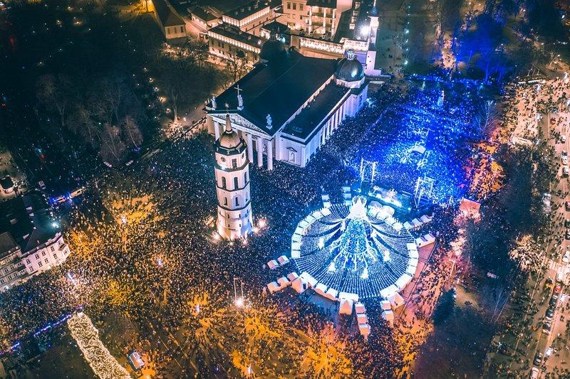 Arbre de Noël de Noël de Vilnius 2019