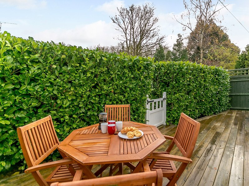 Enjoy dining in the secluded garden