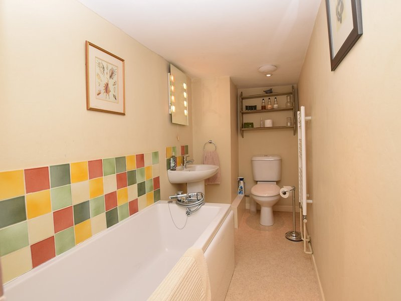 Bathroom with handheld shower