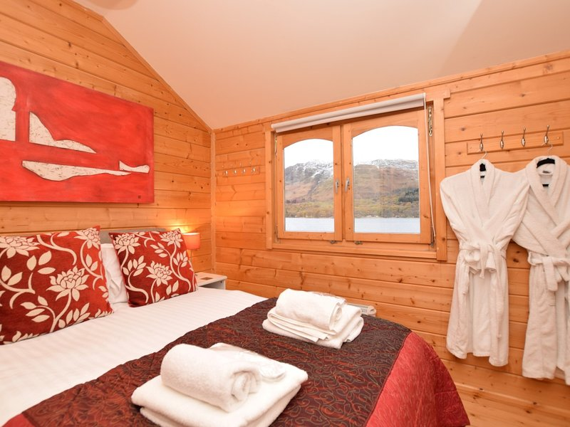 The lovely double bedroom with breath-taking views