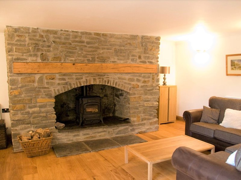 Enjoy cosy evenings in front of the wood burner