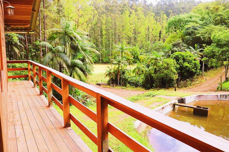 Cabana em meio a natureza, Aconchegante e lindo., location de vacances à Pomerode