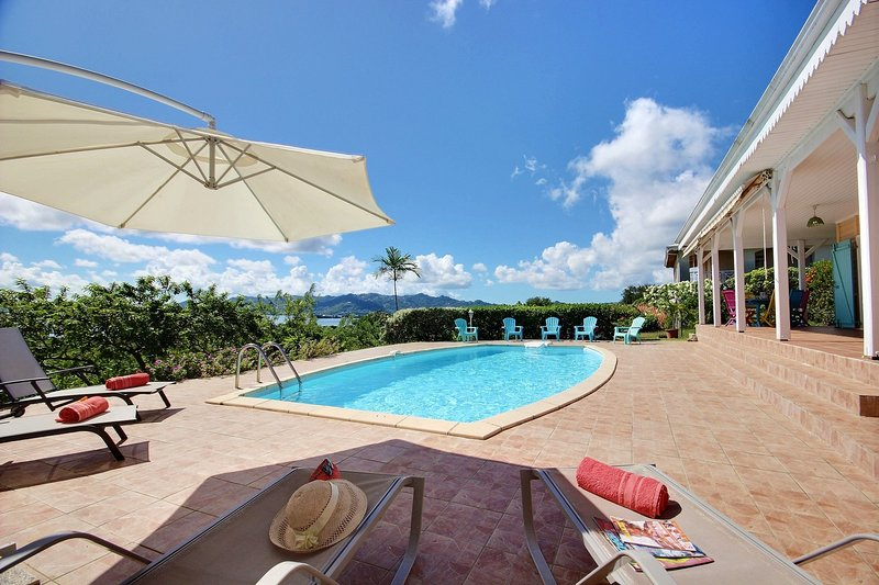 Enjoy the sun loungers at your disposal by the pool to bask in the sun