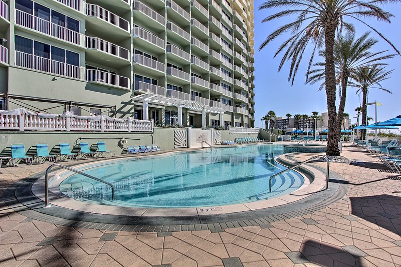 Soak up the sun on the pool deck.