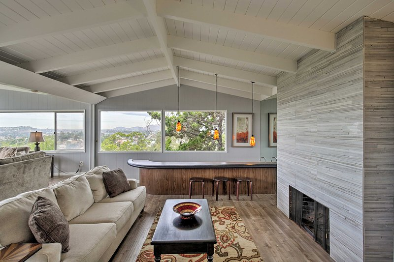 The stylish vacation rental sleeps up to 6 guests with ease.