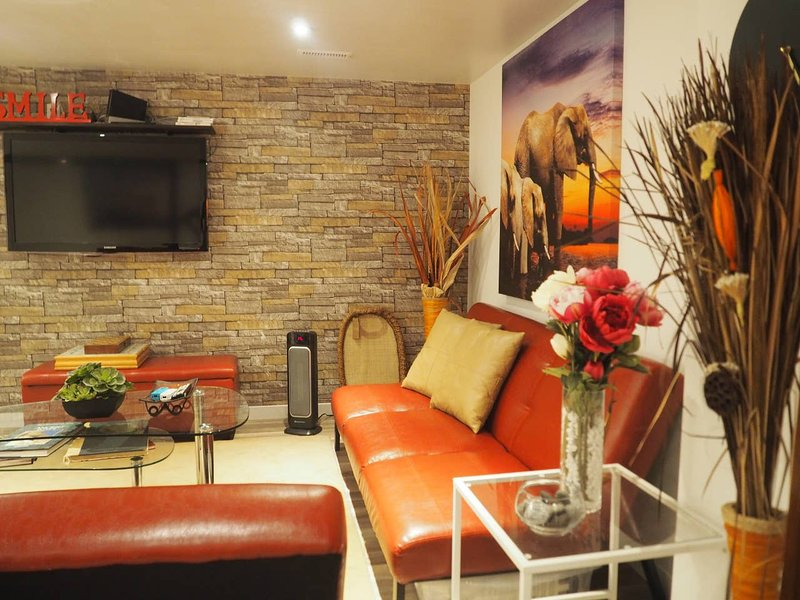 Private, luxurious and modern fully furnished apartment with separate entrance.