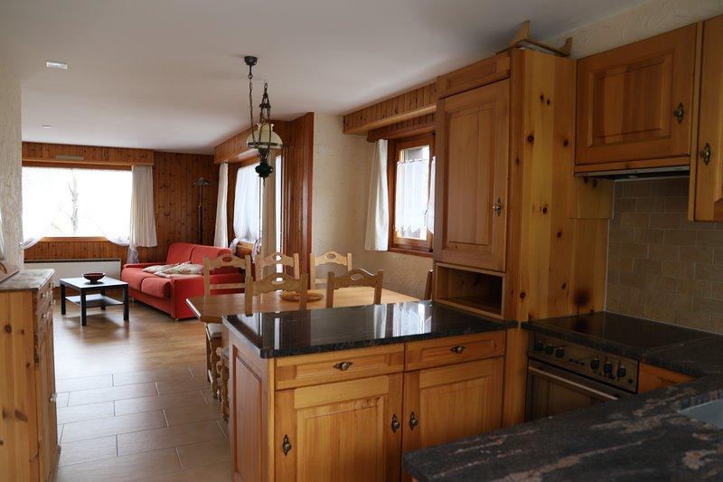 Nendaz appartement 4,5p tout équipé pour 6 personnes à 150m des télécabines, holiday rental in Haute-Nendaz