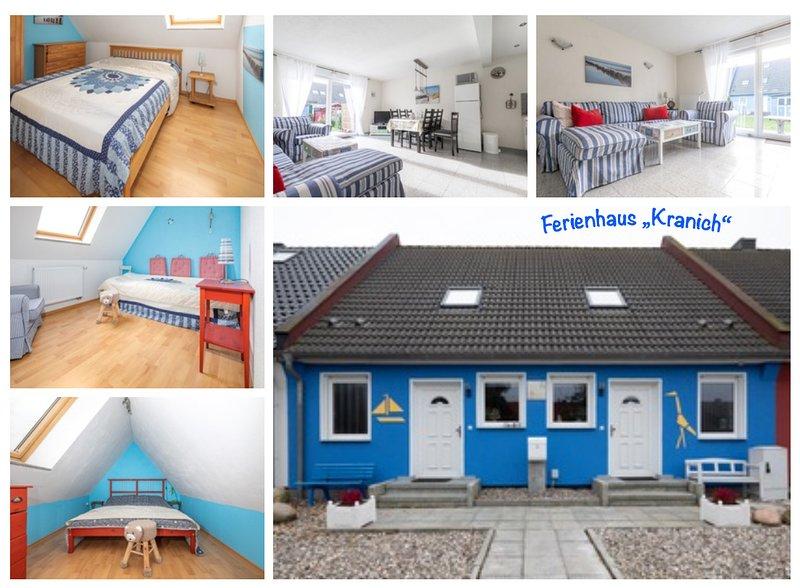 Ferienhaus Kranich, bei Fischland-Zingst. Gepflegt, top Ausstattung, Hunde willk, casa vacanza a Bresewitz