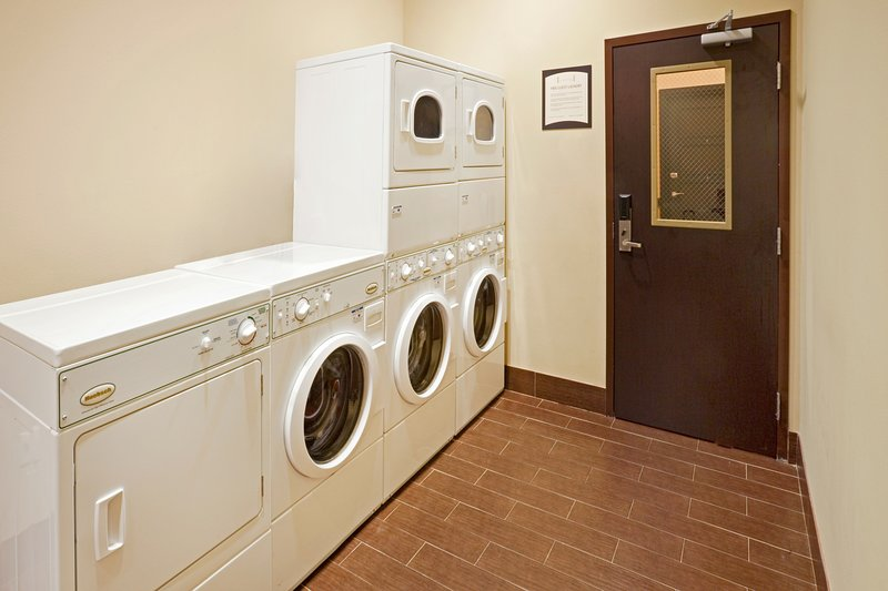 Keep clean with the laundry facilities.