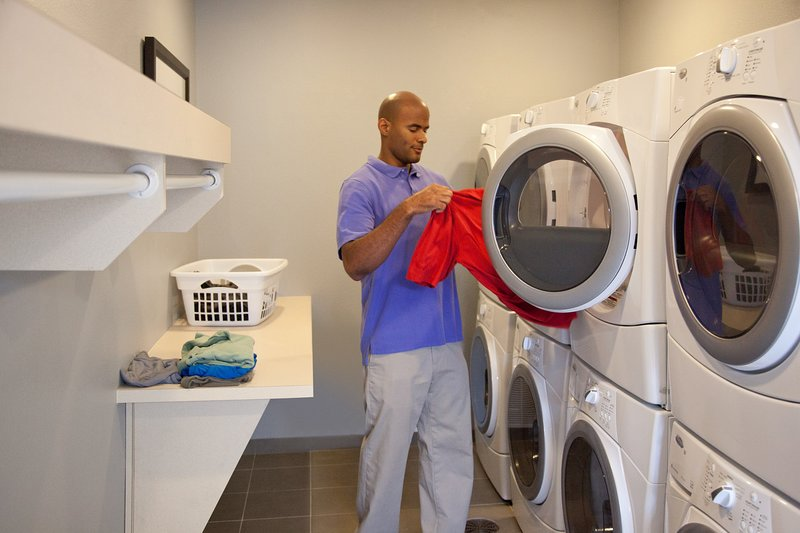 Self-serve laundry is available on-site.