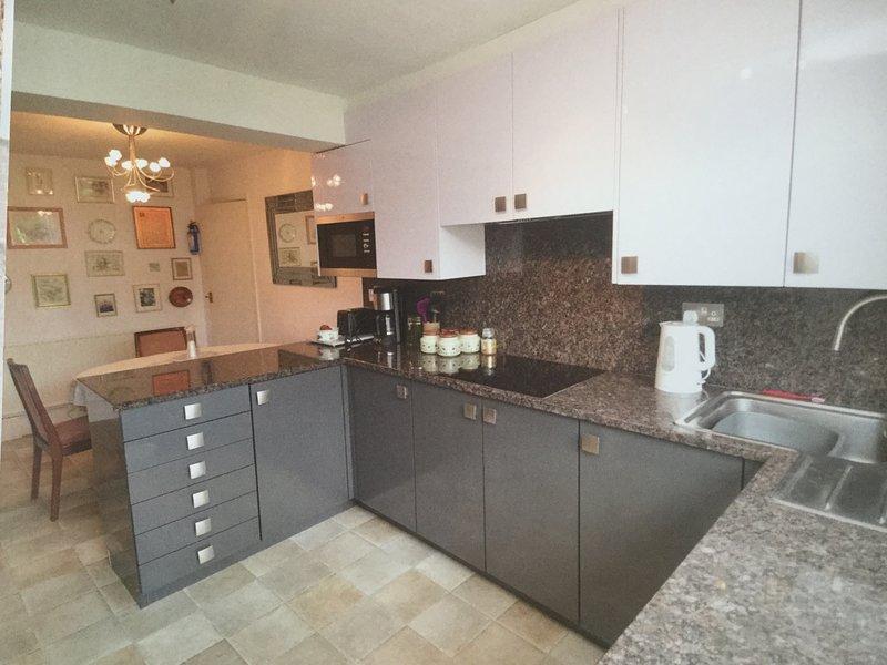 Cucina moderna con piano cottura a induzione frigorifero congelatore lavastoviglie lavatrice frigorifero congelatore forno