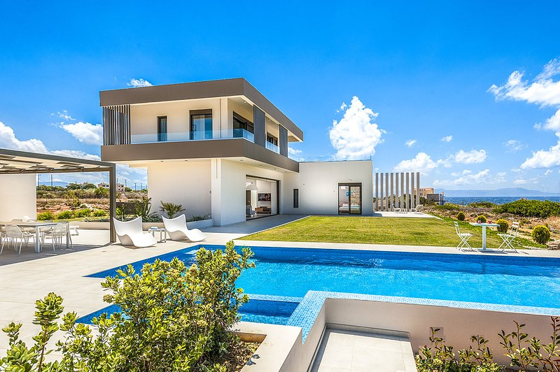 Andrae Seaview VIP Villa, Stavros Chania Crete, alquiler vacacional en Stavros