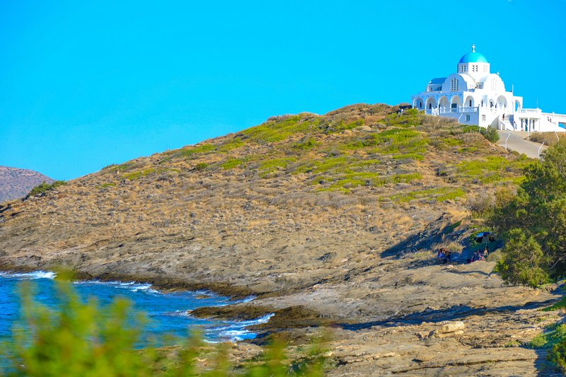Beachfront Petrino: WiFi, A/C, Private, sleeps 4, vacation rental in Lavrio