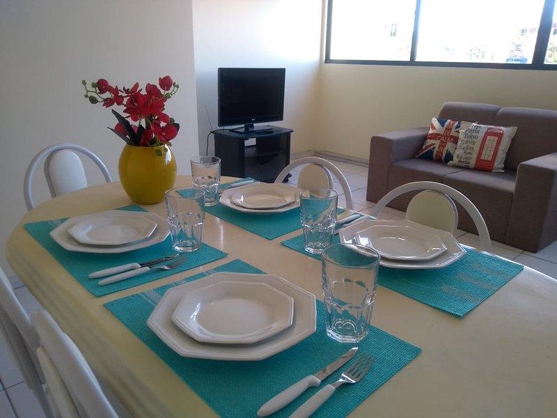 3 QUARTOS a 5 MIN da PRAIA com AR e WIFI, vacation rental in Maceio