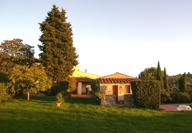 View of Villa and Guest House from the back of the garden