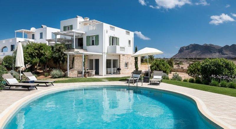 Luxury Villa con giardino e piscina privata, situata a 150m dal mare., holiday rental in Tersanas