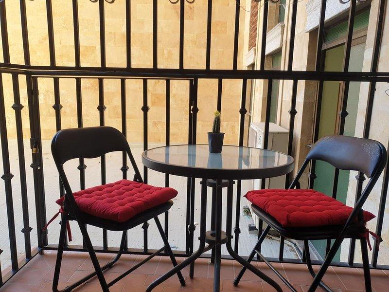 Nice apt with balcony & Wifi, holiday rental in Roscales de la Pena