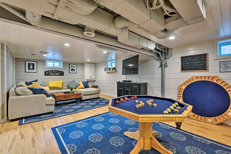 The home features 2 games room!