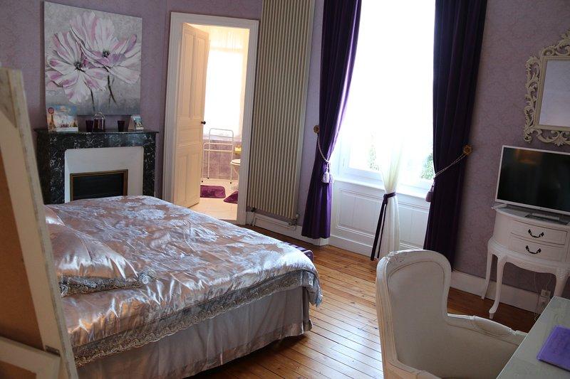 Chambre Lila pour 2 personnes au Château des Tourelles en Vendée, holiday rental in Saint-Georges-de-Montaigu