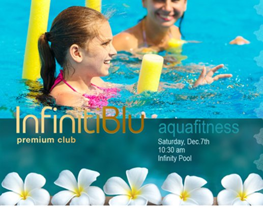 Pool gymnastic is  available for our premium club members
