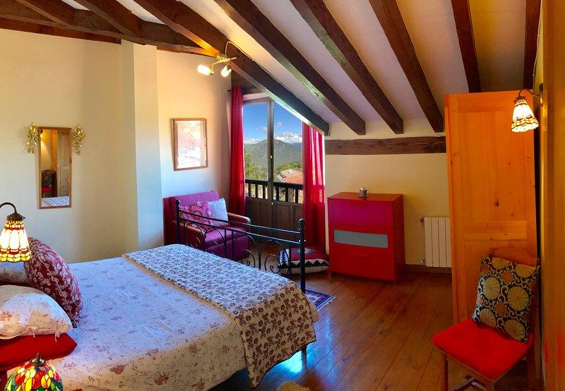Room overlooking the Picos de Europa