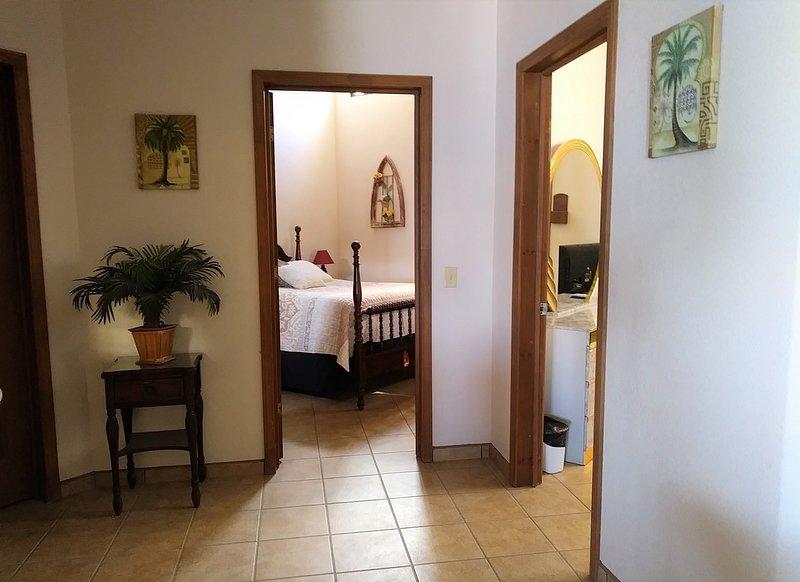 Ubicación de los 2 dormitorios.