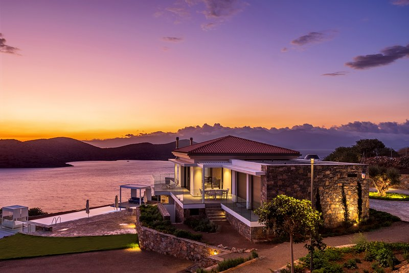 Villa Olivia - A brand new luxury villa with panoramic sea views of Elounda bay, vacation rental in Agia Paraskevi